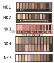 NAKE 12 colors Professional Makeup Eyeshadow naked Palette 1 2 3 4 5, NK cosmetic eye shadow case. Make up Set(China (Mainland))