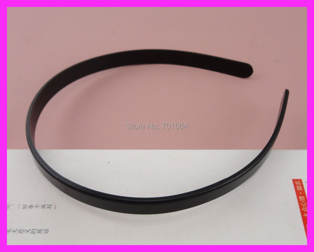 BARGAIN for BULK 10mm black plain plastic flat hair headbands without teeth at eco-friendly material(China (Mainland))