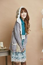 manteaux femme chaquetones de mujer poncho cloak coat woman winter gray lace pathwork mori girl lolita gothic hippie boho lolita