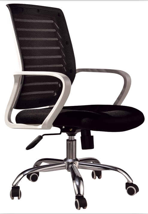 (5pcs/lot)Executive chair swivel chairs with stainless steel wheel computer chair Black(China (Mainland))