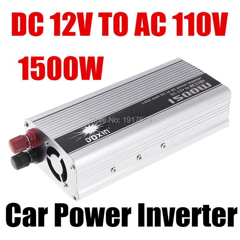 Portable Car Charger 1500W WATT DC 12V to AC 110V 50 Hz Car vehicle Voltage Power Inverter Converter Transformer Power Supply(China (Mainland))
