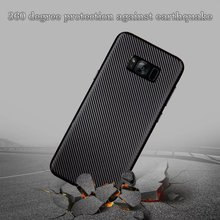 Buy Ultra-thin Shockproof Carbon Fiber Soft TPU Case Cover Samsung Galaxy S6 S7 S8 Edge Plus Cell Phone Cases Coque Back for $1.43 in AliExpress store