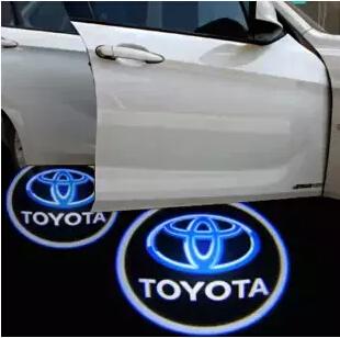LED Car Door Welcome Light Laser Car Door Shadow led Projector Logo For Toyota prius tundra corolla prado sequoia Reiz Alphard(China (Mainland))