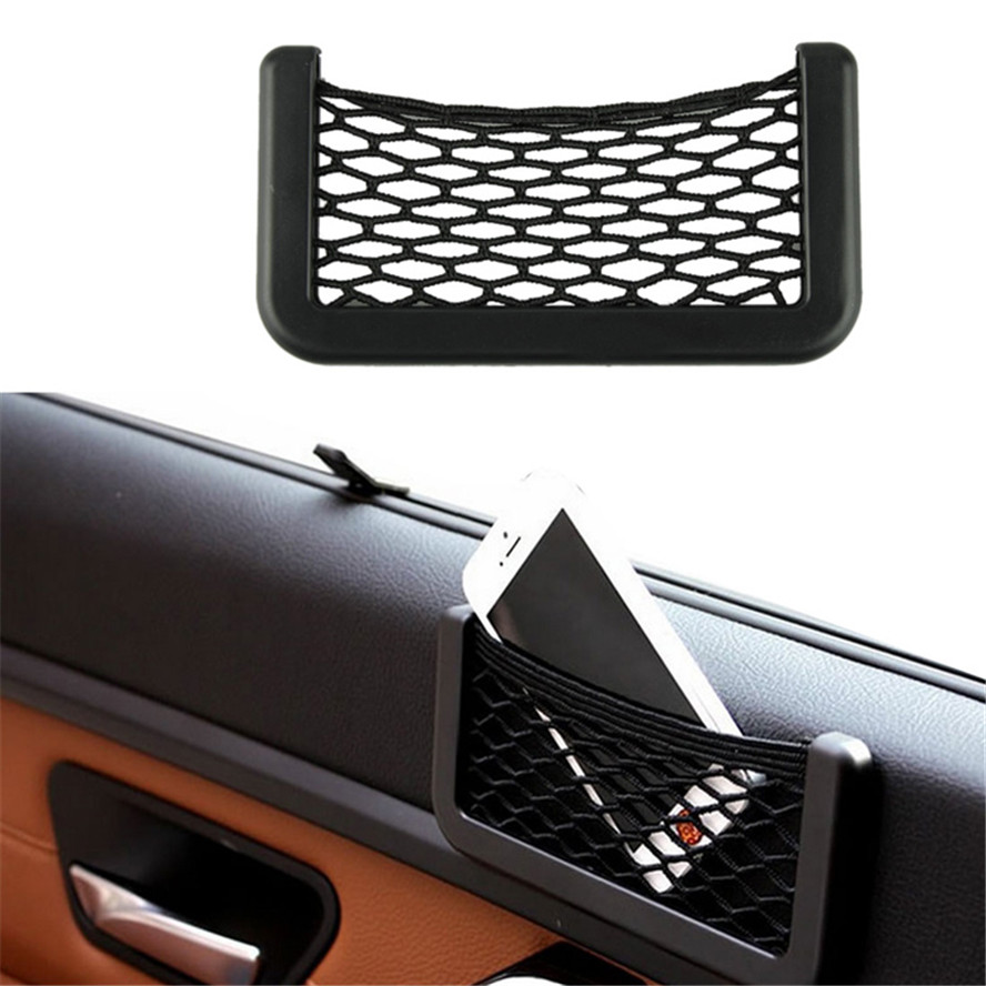 Vehicle Car-styling Automotive Bag With Adhesive Visor Car Net Organizer Pockets Net(China (Mainland))