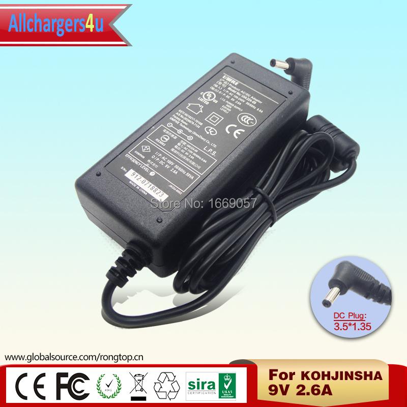 Original UIA324-09 Power Supply 9V 2.6A 3.5*1.35mm AC Adapter for KOHJINSHA Laptop Free Shipping(China (Mainland))