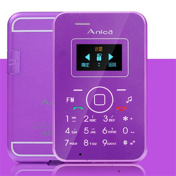 2015 New Anica A1 Mini Emergency Card Phone With OLED Display Backup Wallet Phone 4.7mm Ultrathin Low Radiation Pocket Phone(China (Mainland))