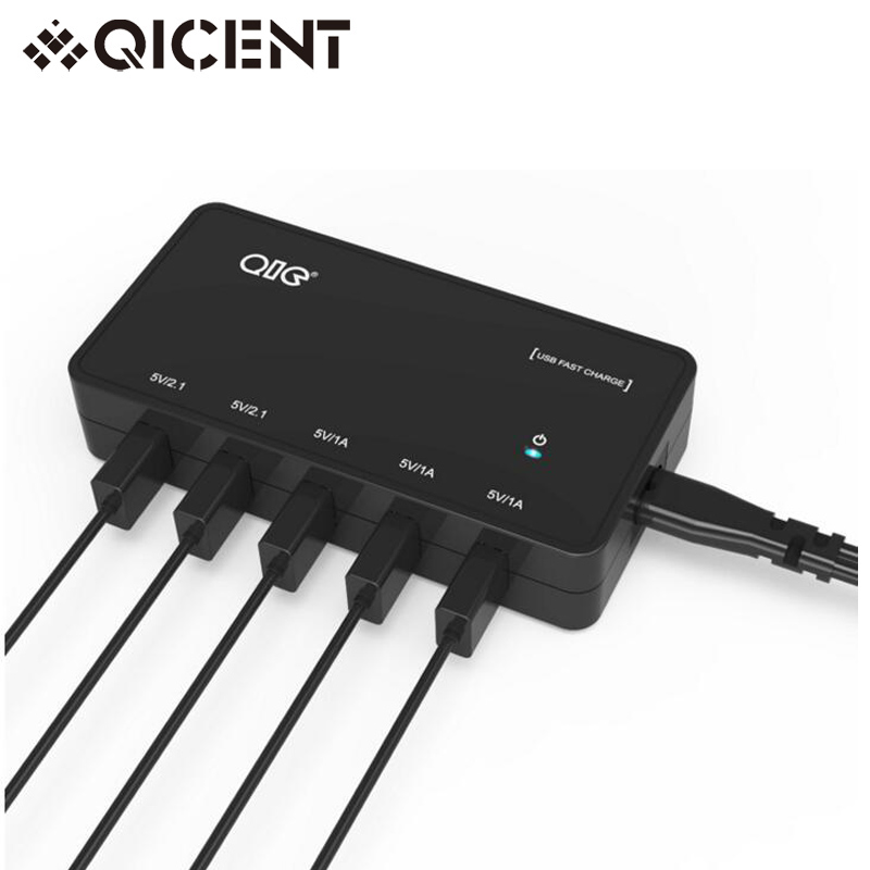 QICENT 30W 5-Port Desktop Fast USB Charger 2A For iPhone 6s / 6 / 6 plus Smart Phone(China (Mainland))