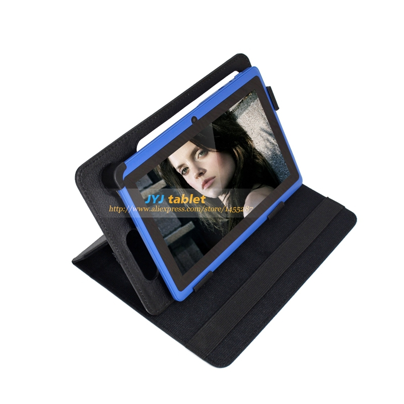 Blue 7 inch Dual Core Android 4.2 Tablet PC 0.3MP Cameras 16GB WiFi 1.5GHz with Flashlight add Rotating Leather Case(China (Mainland))