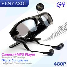 VENYASOL 480P Digital Spy MP3 player Sunglasses Mini Camera DV DVR Sport Recorder Camcorder cam For Driving Outdoor