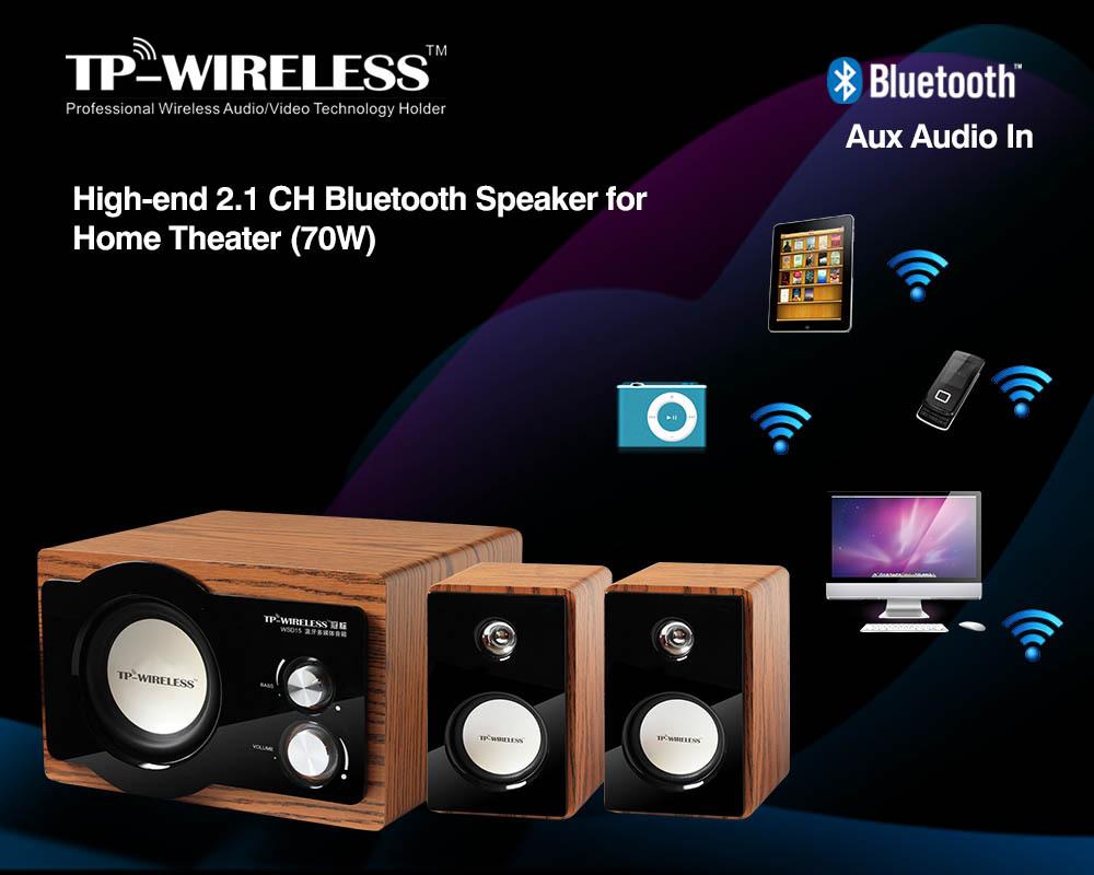 high end 2 1 channel bluetooth speaker for home theater. Black Bedroom Furniture Sets. Home Design Ideas