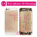 10Pcs Lot AAA high quality for iphone 5S Rose Gold Black Gold Silver back housing battery