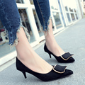 2017 Autumn Winter Sexy Real Fur Pumps Thin Heel Add Plush Winter High Heel Shoes 9 CM Lady Pointed toe Boots