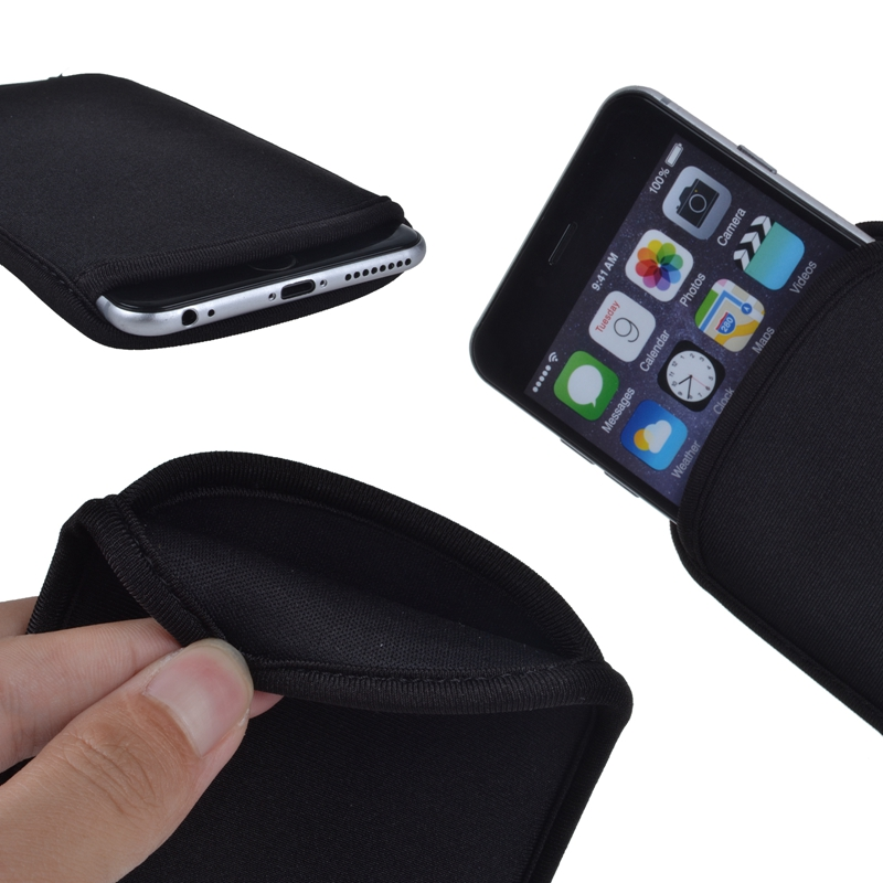 New Shockproof Flexible Sponge Protective Sleeve Bag Pouch Soft Cover For iPhone 6 Plus 6S Plus 5.5 Inch Phone Bags(China (Mainland))