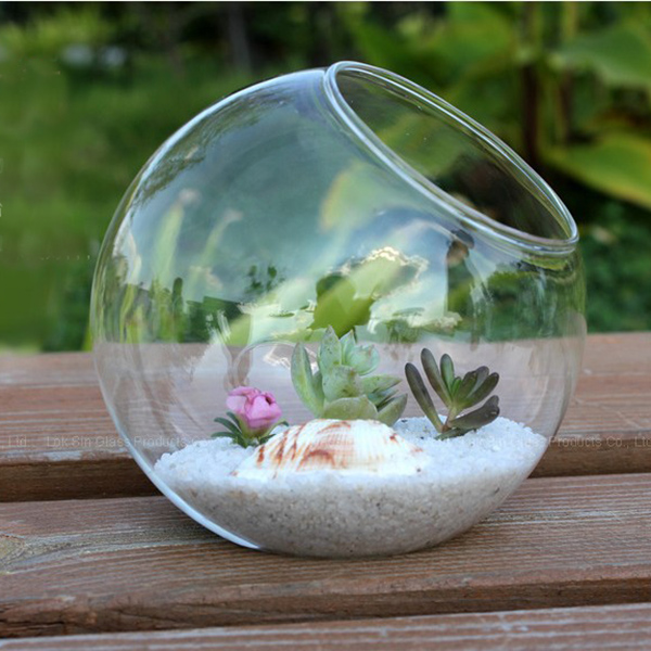 15cm clear round glass vase bottle terrarium container planter pot flower diy home wedding. Black Bedroom Furniture Sets. Home Design Ideas