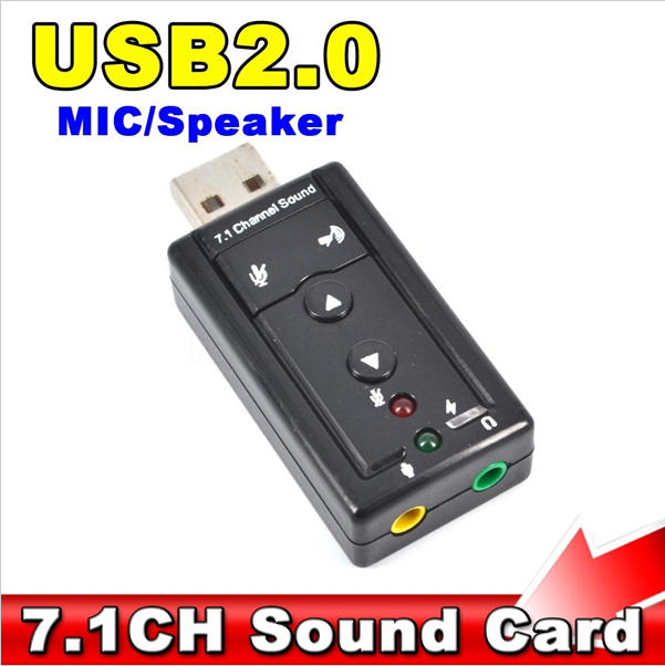 Mini Channel 7.1 CH 3D External USB Audio Sound Card 3.5mm Jack Stereo Headset Mic Adapter Win XP 7 8 Android Linux Mac OS