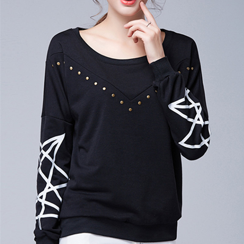 T Shirt Women Cotton Fashion Loose Printed Short Sleevet Long TShirt Tops Woman Camiseta Feminina Plus Size 5XL/6XL Black