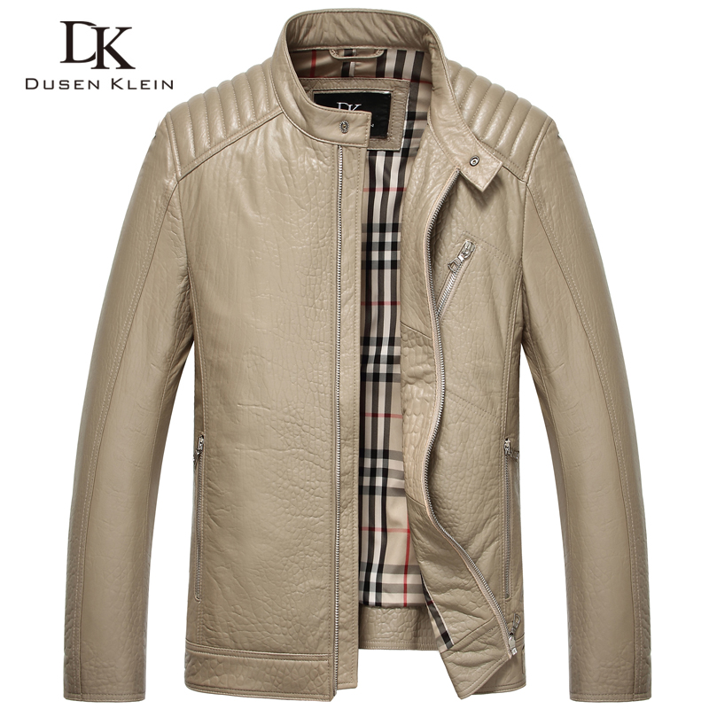 DK Brand Men Genuine Leather Jacket Autumn Outerwear Black/Slim/Simple Business Style/Tanned Leather/Sheepskin Coat 15L1507Одежда и ак�е��уары<br><br><br>Aliexpress