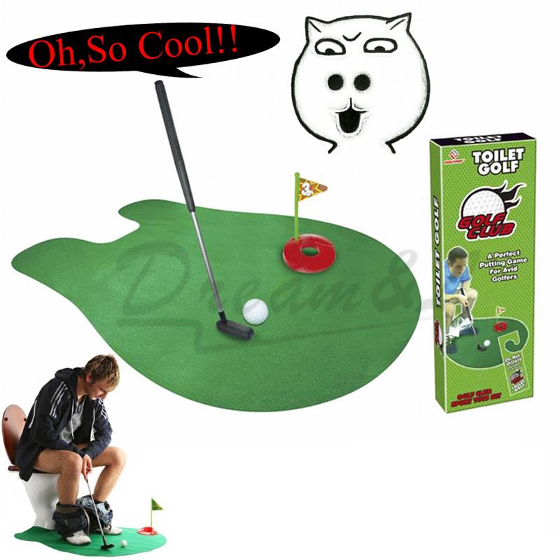 2016 Hot sale Mini Toilet Golf Game Mini Golf Set toys leisure golf environmentally Toy Sports friendly materials/1Set-GF789(China (Mainland))