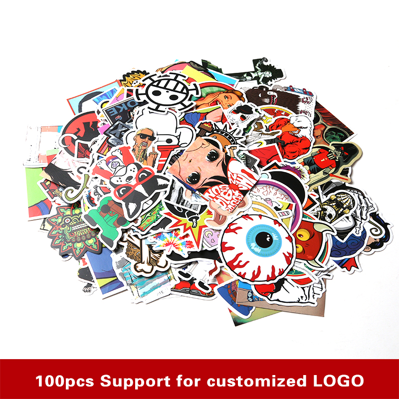 200 pcs Funny Car Stickers on Motorcycle Suitcase Home Decor Phone Laptop Covers DIY Vinyl Decal Sticker Bomb JDM Car styling(China (Mainland))