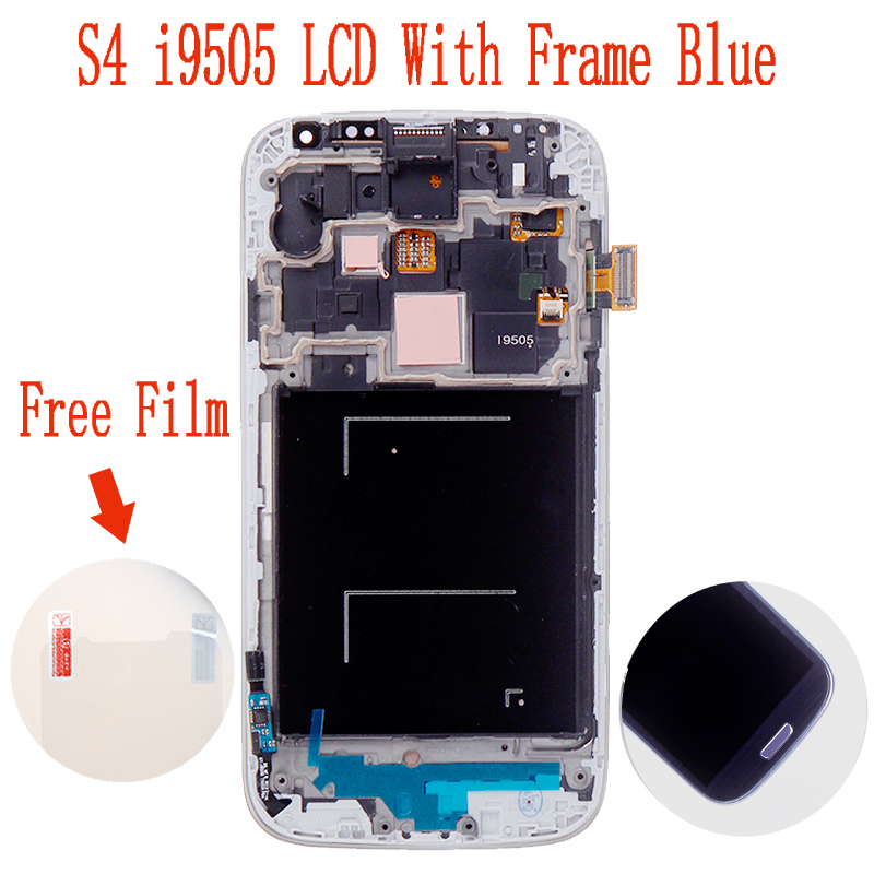 100% Original LCD For Samsung Galaxy S4 SIV I9505 LCD Display and Touch Screen Digitizer With Frame Assembly Free Shipping Blue(China (Mainland))