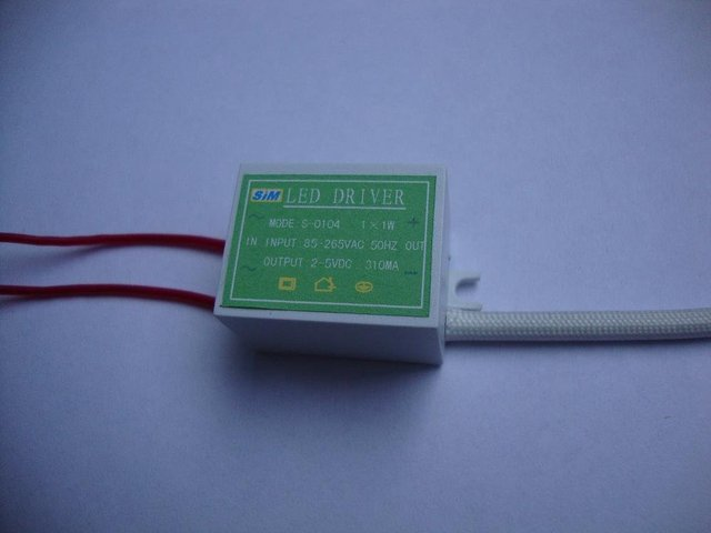 LED Constant current driver;1*3W;AC85-265 input;3-5VDC/650ma output;P/N:S-0105