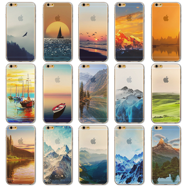 """Endless Mountains Painted Soft TPU For Apple iPhone 6 """"4.7""""inch Mobile Phone Back Skin Cases Cover for iphone 6s(China (Mainland))"""