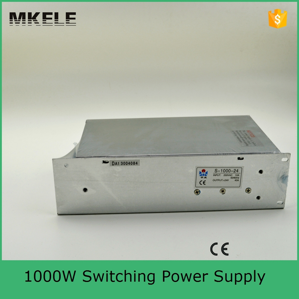 S-1000-24 40A high power AC to DC small size dc 24v power supply low price power supply 24v 1000w with ce certification(China (Mainland))