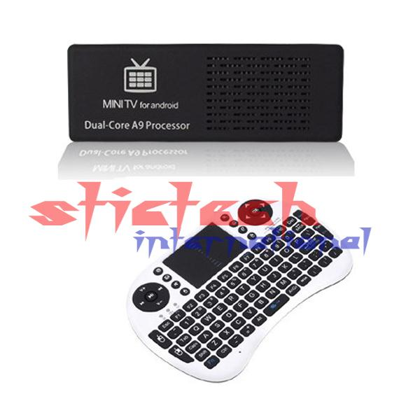 by dhl or ems 50 pieces MK808 Android 4.1 Mini PC TV Dongle IPTV Box RK3066 1.6GHz Dual Core Cortex A9 1GB RAM 8GB Mini Keyboard(China (Mainland))