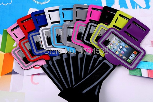 Hot Sale Workout Cover Premium Running Sports GYM Case Cover Holder Pounch for iPhone 5 5G 5S 5C Cell Mobile Phone Arm Bag Band(China (Mainland))