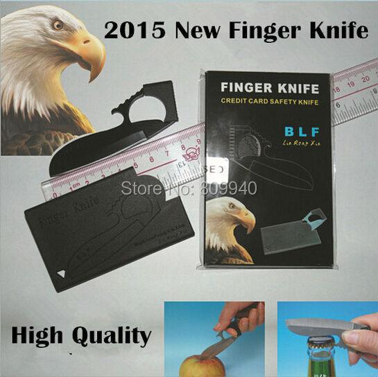 2015 NEW BLF Finger Knife Card Sharp 5 Credit Card Finger Knife Olecranon eagle folding Multi knife, outdoor wallet tool(China (Mainland))
