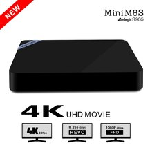 Mini M8S TV Box Set-top Box Amlogic S905 Android 5.1 Quad Core WiFi Bluetooth 4.0 2GB RAM 8GB Smart Media Player EU/US Plug(China (Mainland))