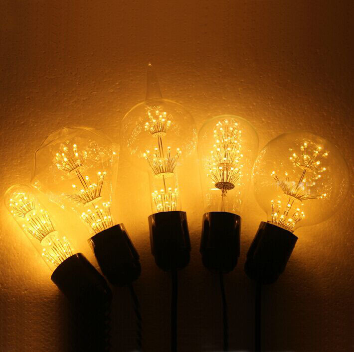 G80T, G95 Diamond, A60, T10, 3W E27 Vintage Edison Bulbs Led Bulbs Energy Saving Lights Environment Friendly Bubble Lamps L14(China (Mainland))