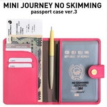SMILE MARKET 2015  Fashion Simple The genuine Mini Journey anti-degaussing short paragraph passport holder passport cover(China (Mainland))