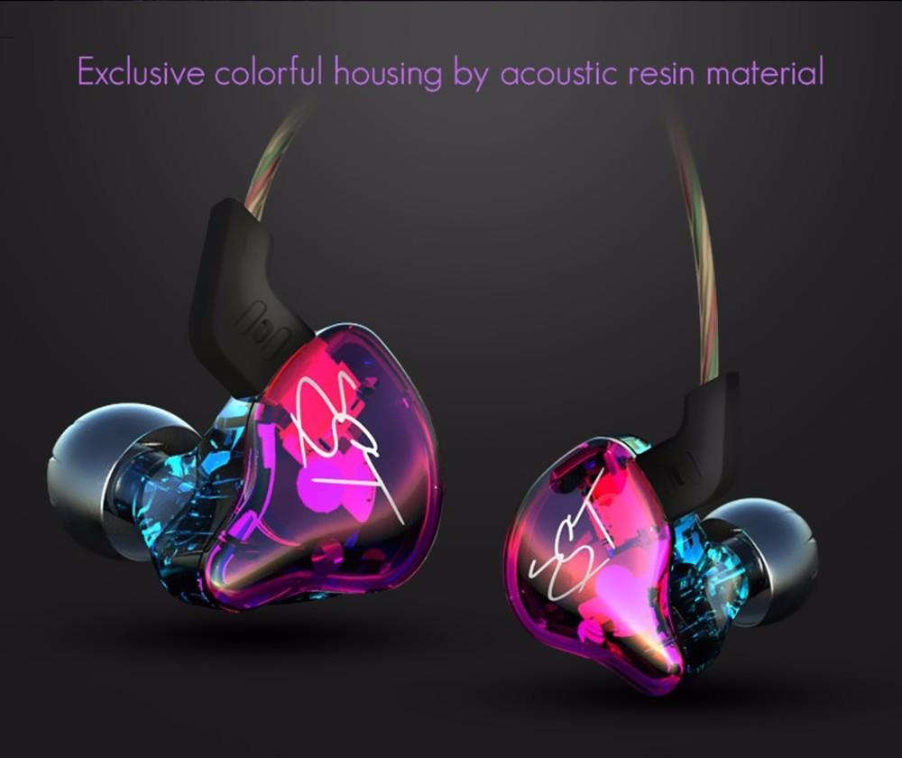 ถูก 100%ต้นฉบับKZ ZSTที่มีสีสันในหูหูฟัง1DD + 1BAไฮบริดไดรฟ์ไฮไฟหูฟังวิ่งกีฬาหูฟังMonitoหูฟังEarplug