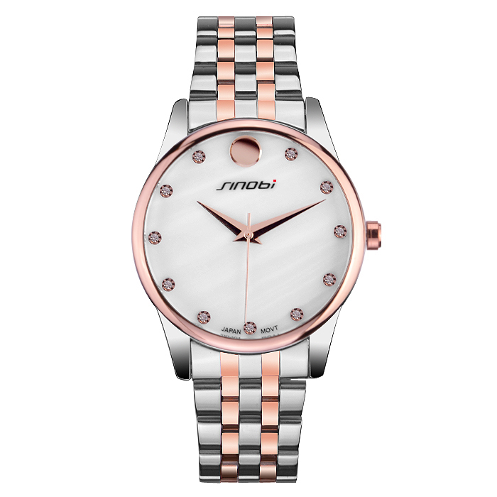 Female couple new 2015 when Nobby couple watches stainless steel quartz watch watch trade(China (Mainland))