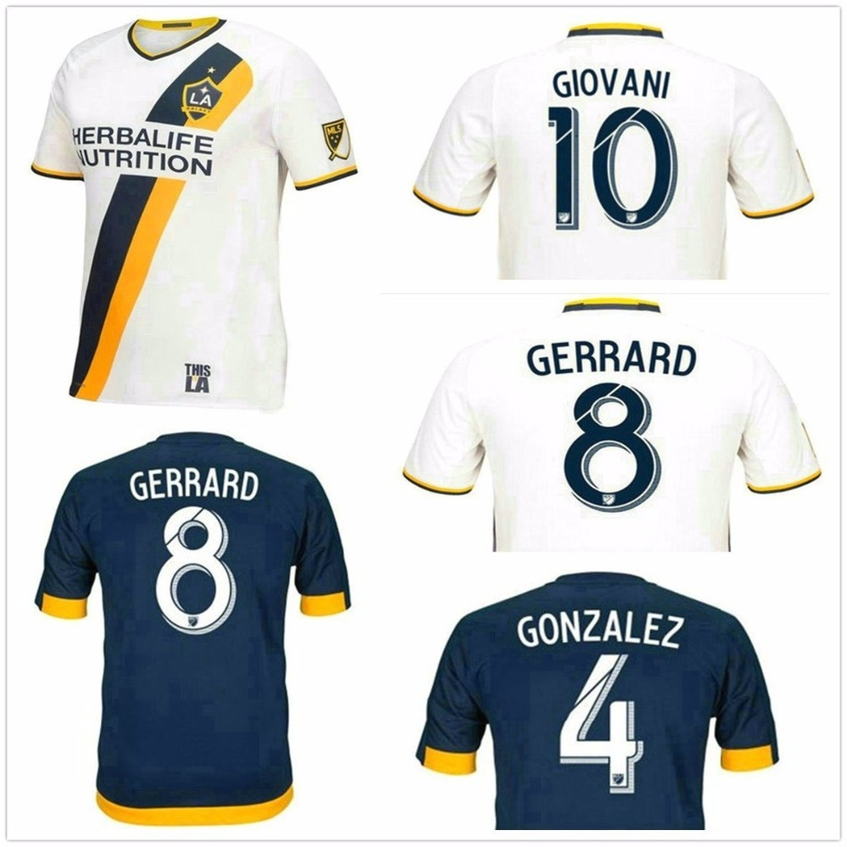 16 17 Los Angeles Galaxy soccer jersey thai quality Jerseys 2016 2017 LA Galaxy shirt BECKHAM(China (Mainland))