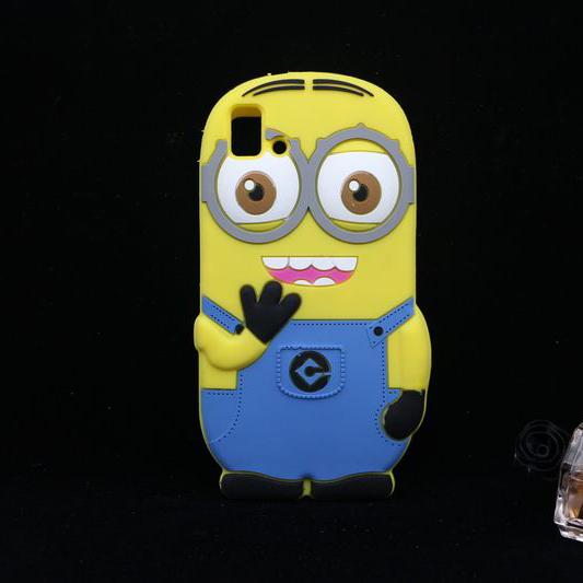For BQ Aquaris E5 3G 4G Despicable Me Minions Case Cute Cartoon Soft Silicone Cover(China (Mainland))