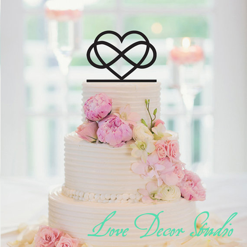 6 infinity cake topper infinity heart wedding cake for Decoration 6
