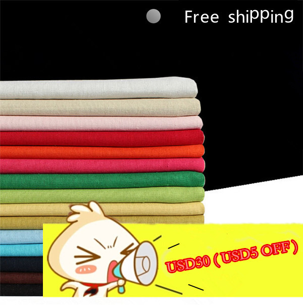DIY 50x147 cm/piece Spring Summer linen/cotton fabric cloth patchwork curtain table cloth skirt Hand workshop ML07(China (Mainland))