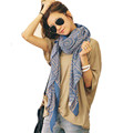 Modern Fashion Design Lady Women Vintage Long Soft Printed Scarves Shawl Wrap Scarf Free Shipping My24
