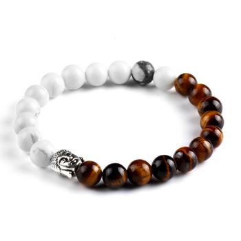 Будда браслет браслеты 2 цвета прорезиненная тесьма цепь Brazalete лава камень Pulseira ...