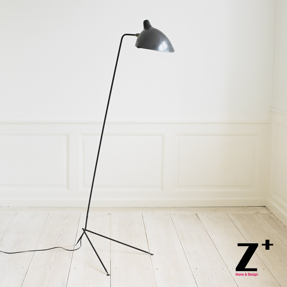High Quality Replica Serge Mouille lights Designer lighting rion black white one head floor lamp(China (Mainland))