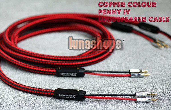 2.5m CopperColour CC Penny IV Speaker Cable PVC+CC Banana Plug 5N 4.88 OCC Copper<br><br>Aliexpress