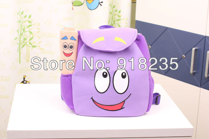 "Free shipping New 10"" Dora the Explorer Plush Backpack with MAP Retail(China (Mainland))"