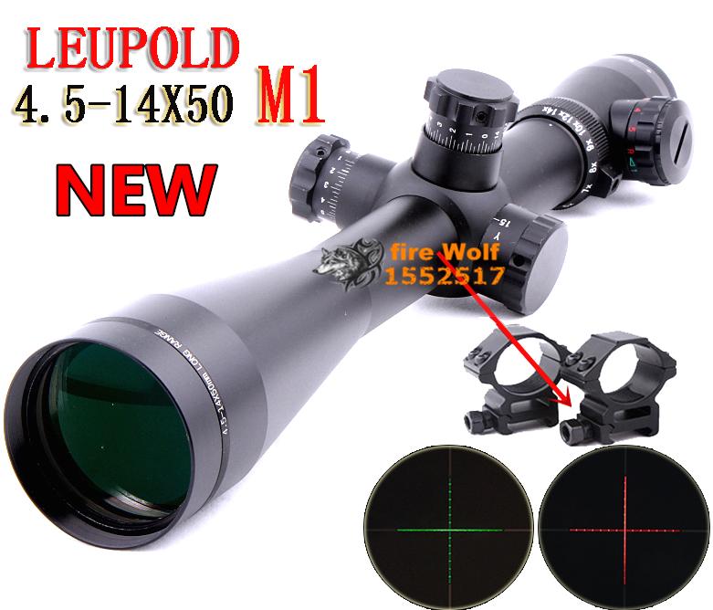 2015 NEW Leupold Mark 4 M1 4.5-14x50 mm AO illuminated Mildot side wheel hunting scope(China (Mainland))
