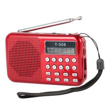 2016 Mini Portable Dual Band Rechargeable Digital LED Display Panel Stereo FM Radio Speaker USB TF Mirco for SD Card MP3 Player