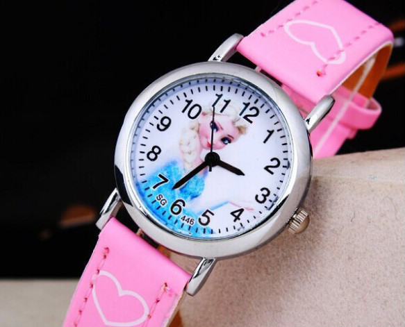 Гаджет  New Cartoon 2015 Elsa Anna Princess Watches Fashion Children Girls Kids Students Leather Sports Wristwatches Gifts 173106 None Часы