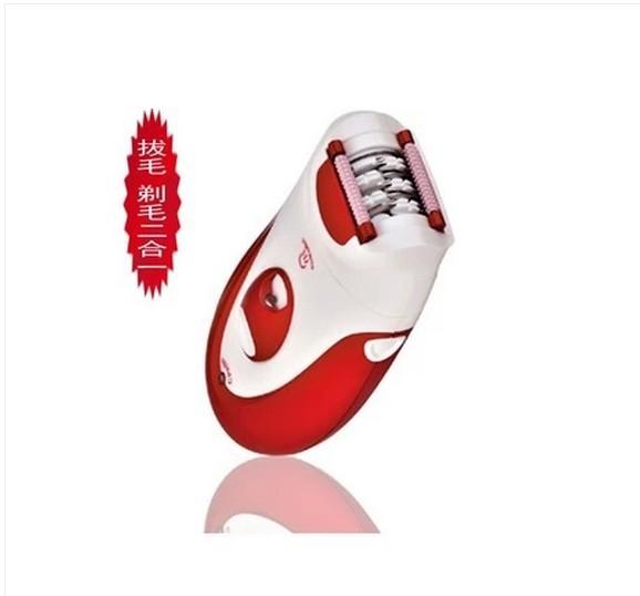 2 in 1 epilator spring tools clamp wheel hair removal device hair removal machine ladies' epilators woman bikini trimmer EU red(China (Mainland))