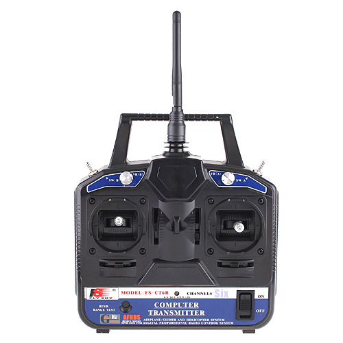 Flysky FS-CT6B 2.4GHz 6CH Transmitter + Receiver System for RC Helicopter Model(China (Mainland))
