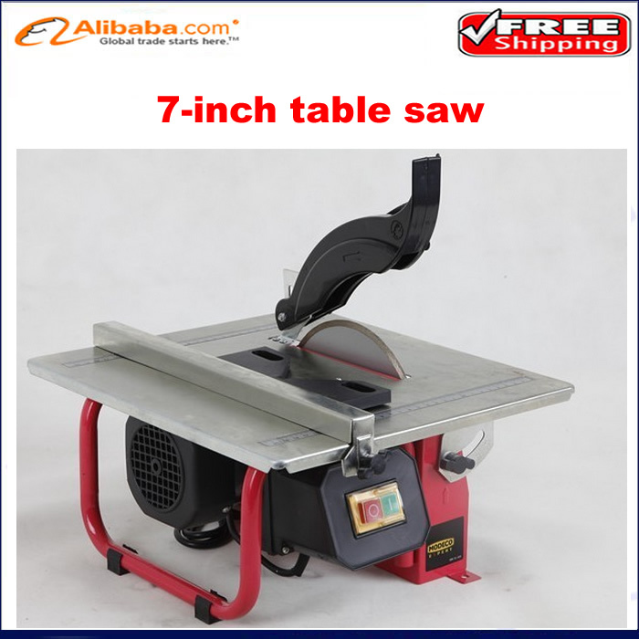 Free Shipping Copper 7 Inch Mini Table Saw Small Stone Cutting Woodworking Table Saw In Saw